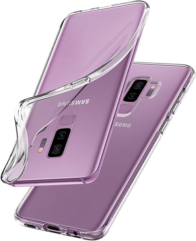 Spigen® [Liquid Crystal Funda Galaxy S9 Plus con Protección TPU Flexible y Ligero para Samsung Galaxy S9 Plus (2018) - Transparente: Amazon.es: Electrónica