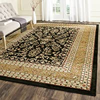 Safavieh Lyndhurst Collection LNH331D Traditional Oriental Black and Tan Rectangle Area Rug (8'11' x 12')