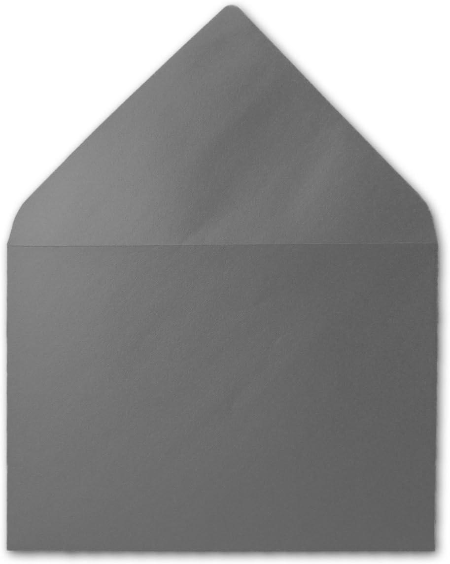 color 23-Dunkelgr/ün 100 Umschl/äge 162 x 114/mm con banda adhesiva de FarbenFroh Sobres de colores DIN-C6