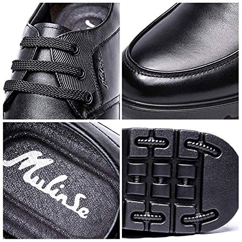 cuero UK ocasionales para boda Tamaño Marrón cordones 11 Zapatos hombres de mocasines 8 US de de NEGRO tamaño 5 US 10 negocios para 7 cómodos con hombres Color UK Negro 5 Color formales wtBxE5zq