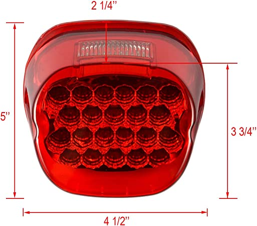 PBYMT LED Tail Light Rear Taillight Brake Turn Signal Light Running Light License Plate Light Compatible for Harley Road King Electra Glide Road Glide FLHX FLHTCUSE 1999-2020 Chrome