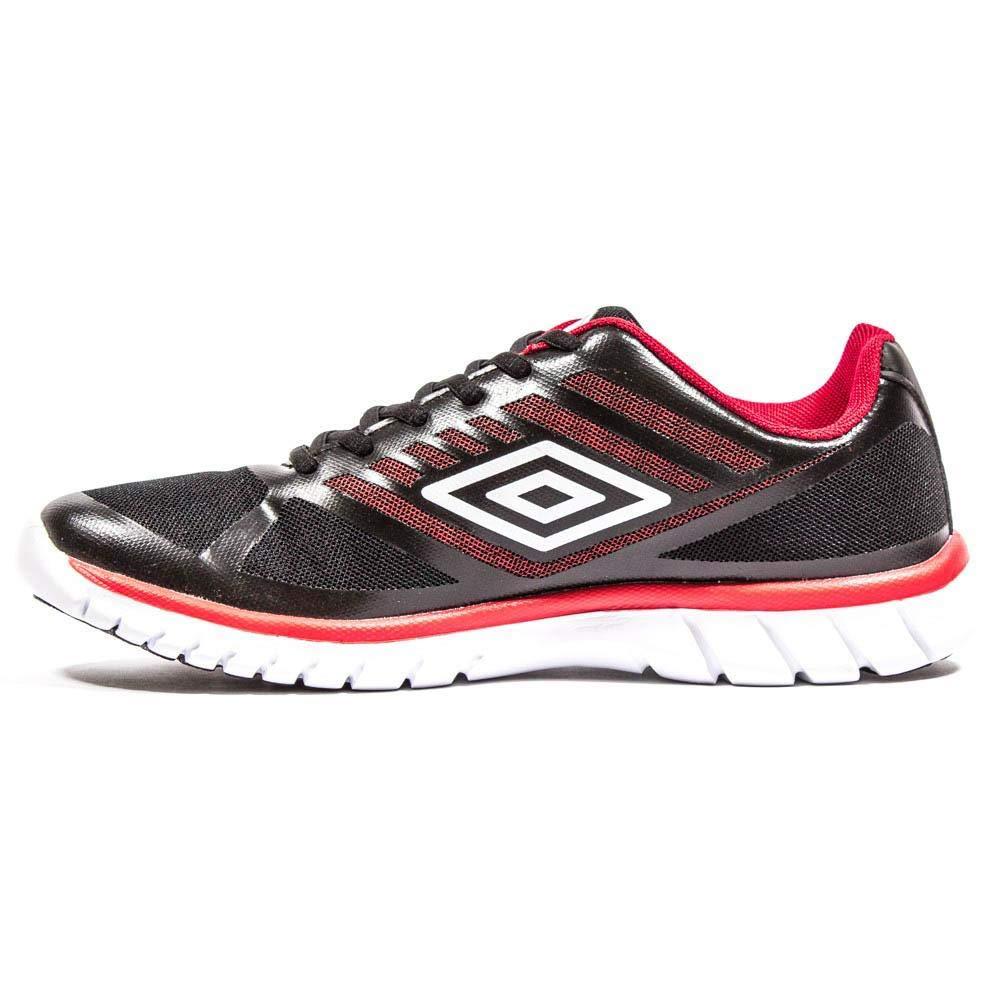 Umbro Lever, Zapatillas de Running para Hombre, Negro (Black/White/Red 137), 41 EU: Amazon.es: Zapatos y complementos
