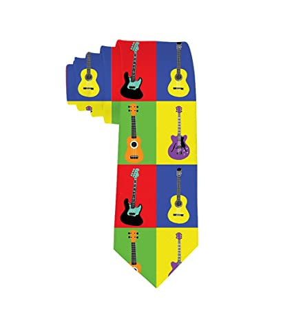 7e9824bbed1c Amazon.com: Musical Instruments Guitars Pop Art Necktie Ties Gift Mens  Teens: Home & Kitchen