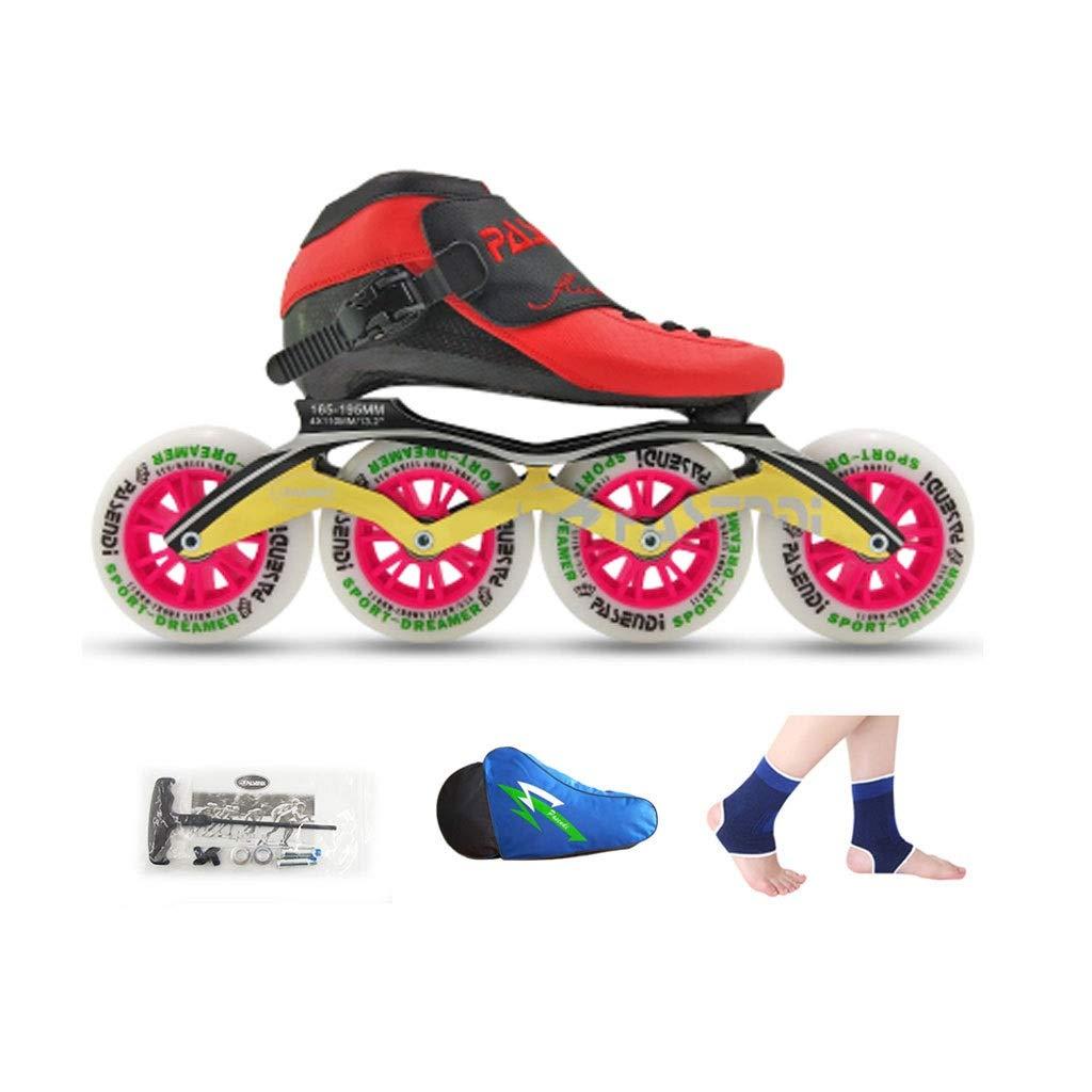 Ailj Inline Skates, Rad Rad Rad Für Erwachsene 4 Räder 90MM-110MM Hochelastisches PU-Rad Einreihige Thermoplastische Schlittschuhe 4 Farben B07Q5Z5YBR Inline-Skates Stilvoll und lustig 7c5c53