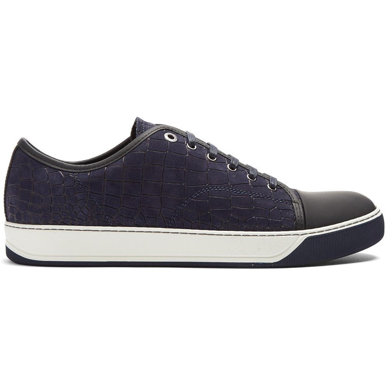 (ランバン) Lanvin メンズ シューズ靴 スニーカー Low-top embossed-leather trainers 並行輸入品 B074SK38ZX