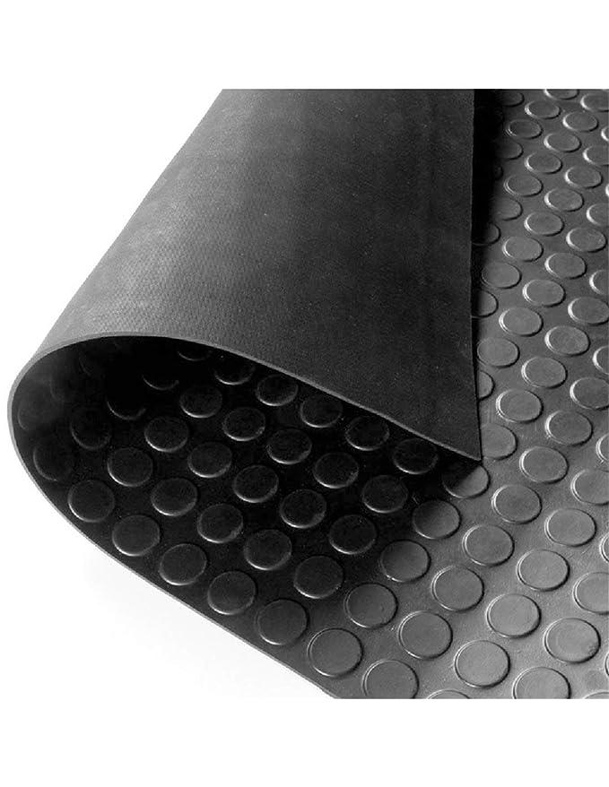 Jardin202 - Suelo Goma Circulo Negro - Rollo 3 mm 15 x 1 m: Amazon ...