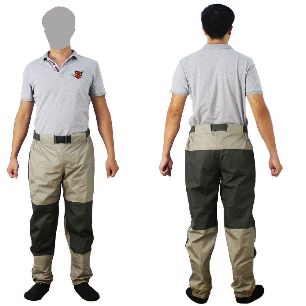 Kylebooker Les Pantalons de Pêche de Mouche de Imperméabilisent Les Pantalons Waders Imperméables Durables D'échafaudage avec Le Tissu de Tricot KB003