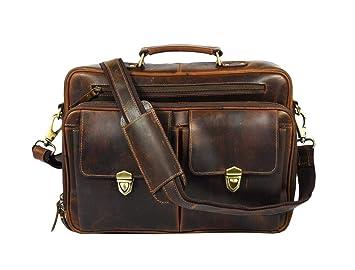 af4a1018399a Image Unavailable. Image not available for. Color  SMA ENTERPRISES Men s  Brown Handmade Leather Briefcase Best Laptop Messenger Bag Satchel