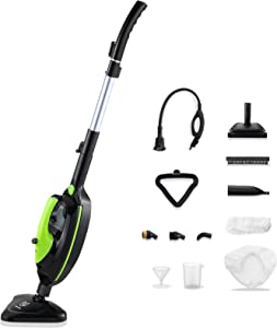 Moolan Steam Mop 12 in 1 Steam Cleaner with Detachable Handheld Unit, Steam Mops for Tile and Hardwood, Laminate, Carpet, Floor Steam Cleaner, Multifunctional Whole House Steamer