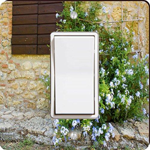 Rikki Knight Tuscan Window with Flowers Single Rocker Light Switch Plate