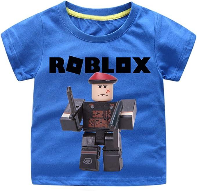 Roblox Camiseta Blusas Impresas Simples Moda Cuello Redondo Ocio T