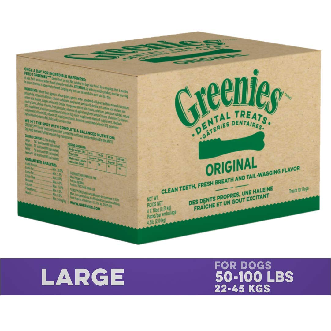 GREENIES Original Large Dog Natural Dental Treats, 72 oz.