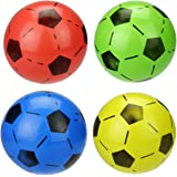 TOYMYTOY Soccer Inflatable Football Mini Softball Ball Game Boy Girl Party Favors Fun Sports Play Stress Squeeze Balls Toy 6pcs (Random Color)