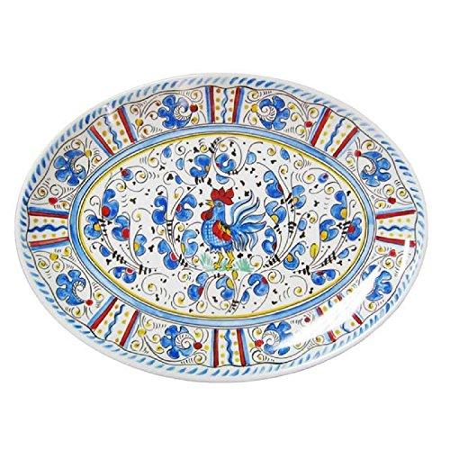 Le Cadeaux Rooster Coupe Oval Platter, 16