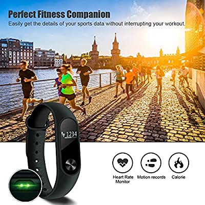 Fitness Tracker, Heart Rate Monitor Health Activity Tracker Waterproof Smart Watch, Mailiya Wearable Pedometer Sleep Monitor Calorie Counter Step Tracker Smart Wristband for iPhone & Android phones