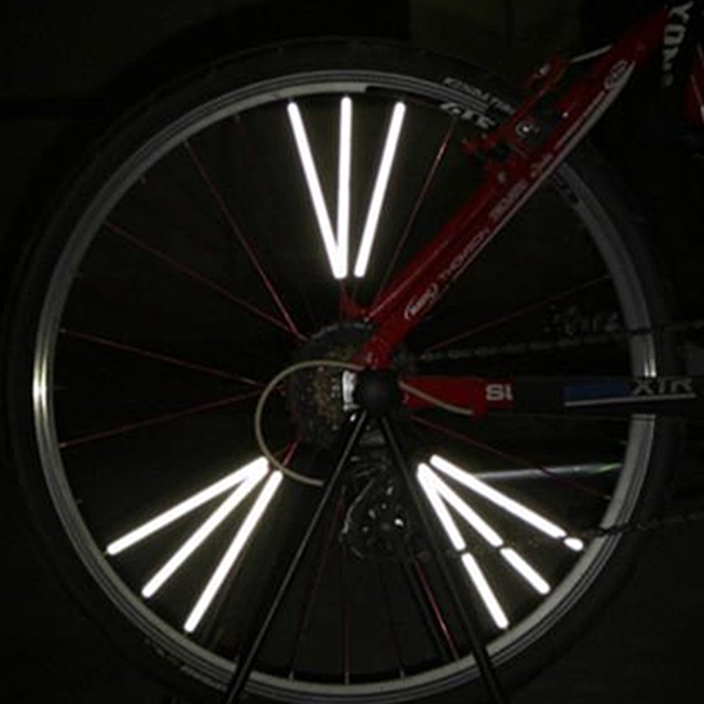 12pcs Bicycle Wheel Spoke Reflector Reflective Mount