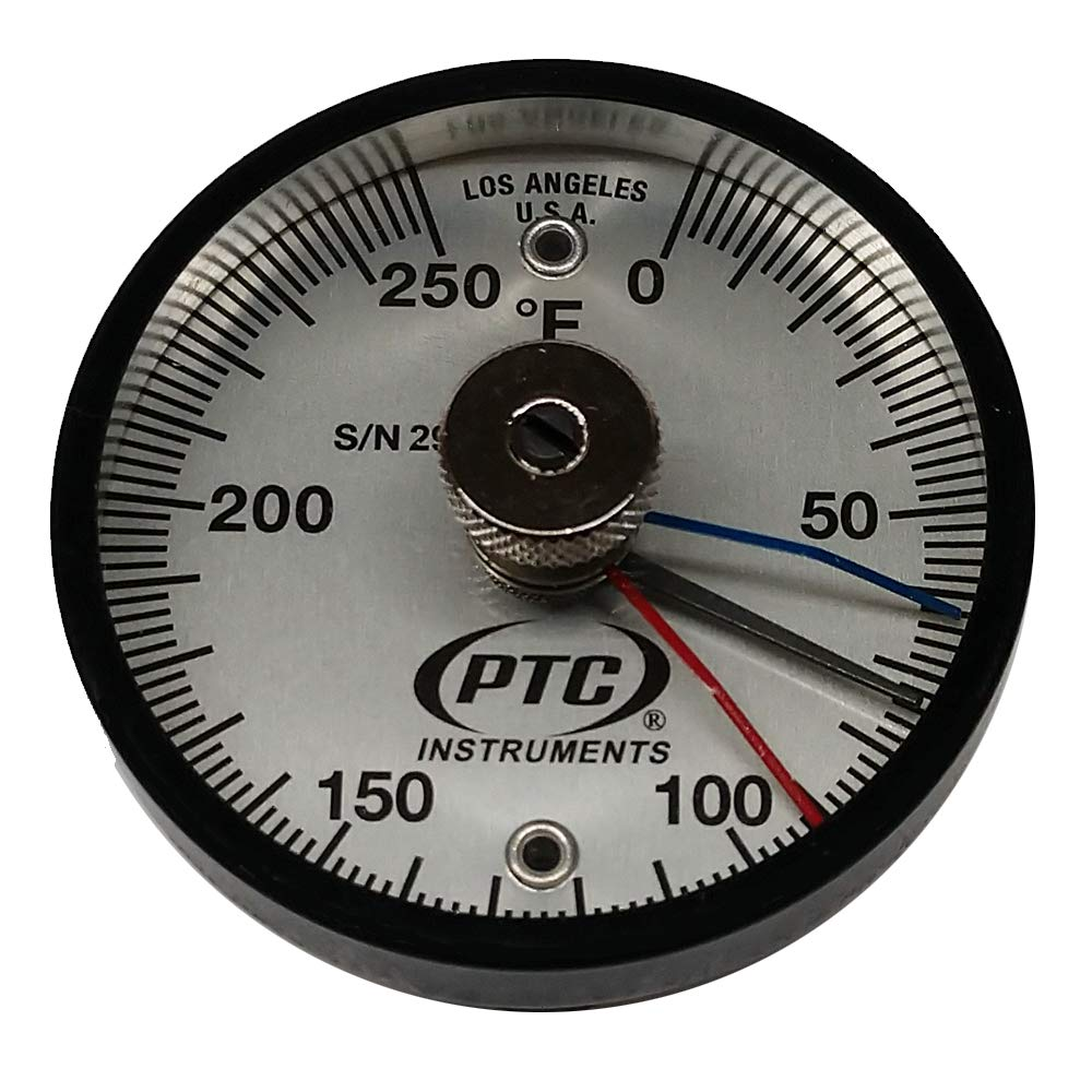 PTC 312FMM Magnetic Surface Thermometer Max-Min Hands 0° to 250°F by PTC