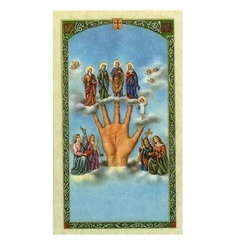 Gifts by Lulee, LLC Oracion a La Mano Poderosa Tarjeta Plastificada Bendecida por Su Santidad