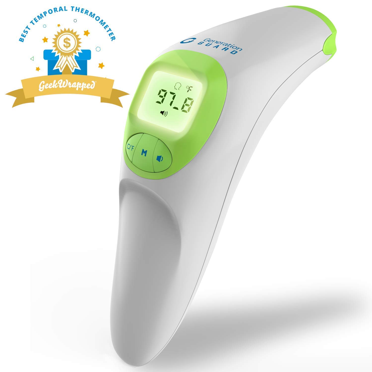 Clinical Forehead Thermometer New 2017 FDA Approved Instant Read Sensor for Digital Fever Measurement Temporal Professional No Touch Readings Newborn Infant Baby Adult & Children Best Infrared Scanner