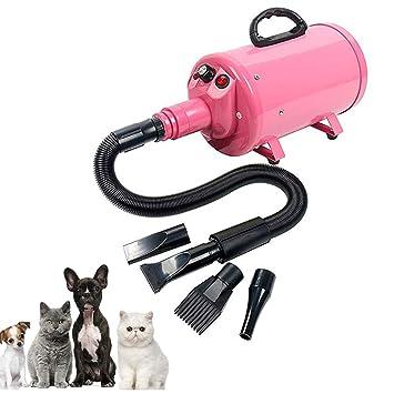DJLOOKK Secador para Mascotas Secador De Pelo para Mascotas 3.8HP Preparación del Soplador De Cabello Velocidad Ajustable con Calentador para Perros Gatos 4 ...