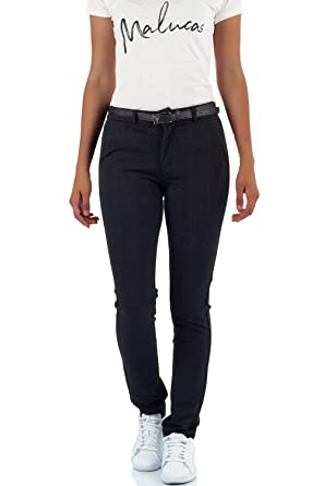 Kleidung & Accessoires malucas Damen Jeans Hose Chino