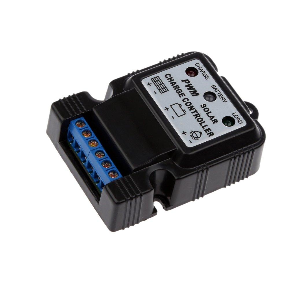 MagiDeal 6v 12v 10a Sensore Regolatore Batteria Del Pannello Carica Nero+2 X Pannello Solare MC4 3 A 1 T-ramo M F Connettori Del Cavo Accoppiatore Combinatore