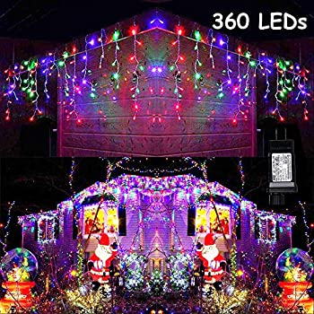Amazon Com 70 M5 Led Blue Icicle Lights Outdoor Colored