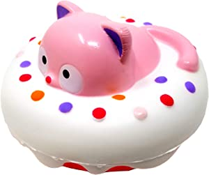 ibloom Cathy in The Roll Cute Cat Slow Rising Squishy Toy (Cathy, White Donut, Strawberry Scented) for Birthday Gift Boxes, Party Favors, Stress Balls, Kawaii Squishies for Kids, Girls, Boys, Adults