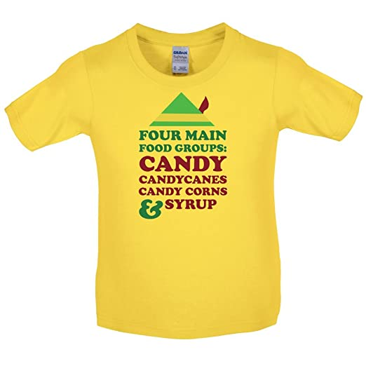 Amazon Com Christmas Food Groups Kids T Shirt Daisy S 5 6 Yrs