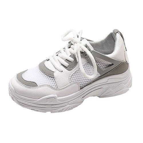 Zapatos Deportivos de Plataforma para Mujer QinMM Zapatillas Transpirables de Malla Running Fitness: Amazon.es: Zapatos y complementos