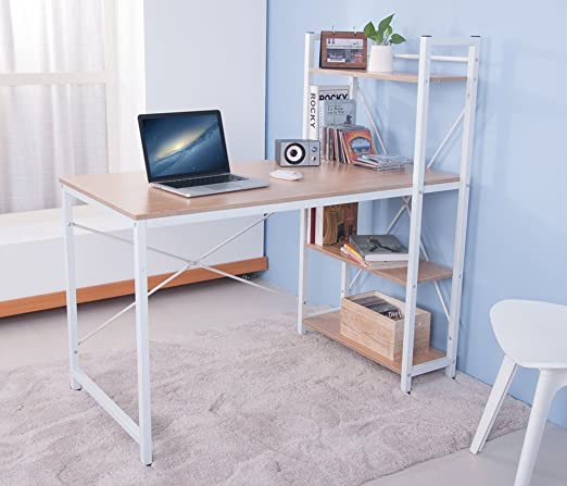 BTM) Mesa de Ordenador Mesa de Ordenador con cajones para Home ...
