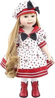 IIWOJ Reborn Doll 45 cm Simulazione Big-Eyed Capelli Lunghi Vestire Ragazza Bambola Regalo di Festa