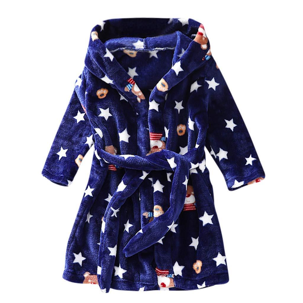 Toddler Bathrobe Age 3-8t,Pajama Bath Towel Flannel Rabbit Hood for Toddler Baby Boys Girls Soft Fleece