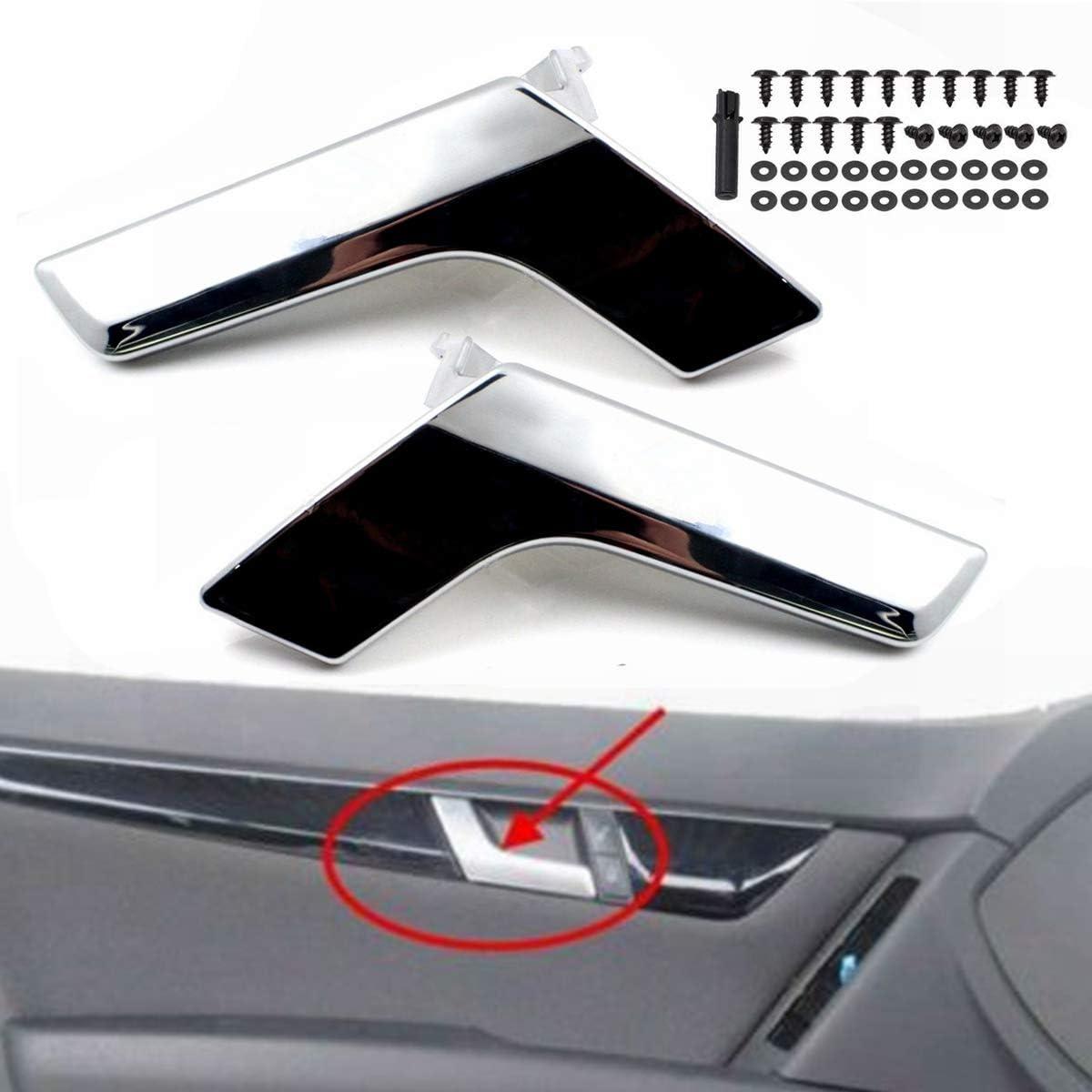 Left Nrpfell Chrome Car Inner Interior Door Handle Repair Kit For Mercedes W204 X204 Inner Trim Cover