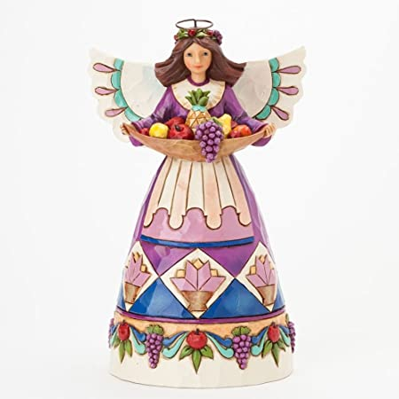 Jim Shore Angel with Fruit Tray 8.25 in H
