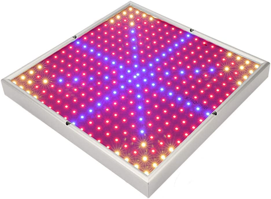 WYNA Lampara de Cultivo LED, 30/45/120 / 200W Panel de Espectro Completo, Jardín Interior Floración hidropónica Macetas de Invernadero Lámpara de suspensión (310 * 310 * 35 mm),US,30W