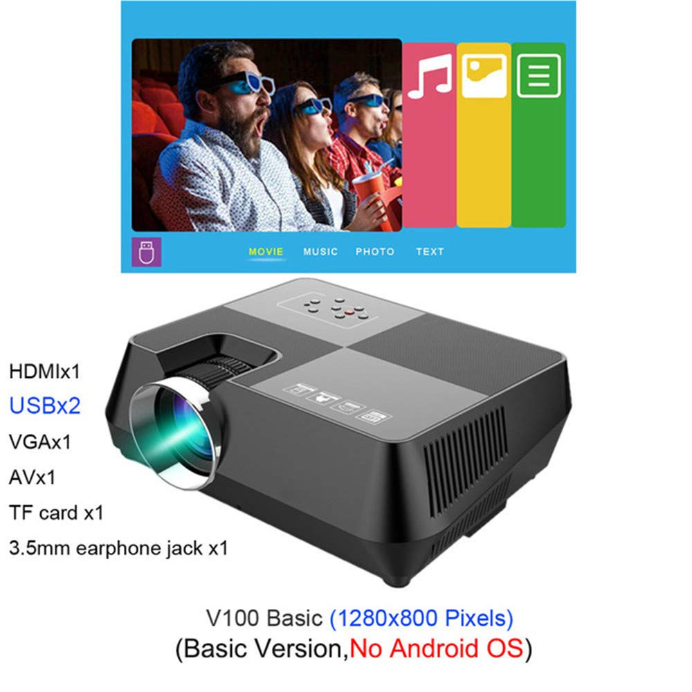 Amazon.com: JJNGJ 720P HD Projector, Optional Android WiFi ...