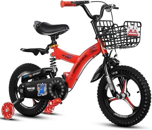 Bicicletas Bicicleta for niños Amortiguador Bicicleta for niños Bicicleta for niños de 2 a 10 años (Color : Red, Size : 18 Inches): Amazon.es: Hogar