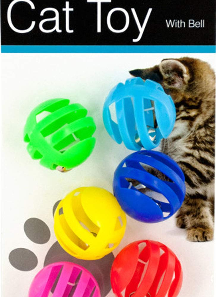 Balls with Bells Cat Toys Set Pack of 12
