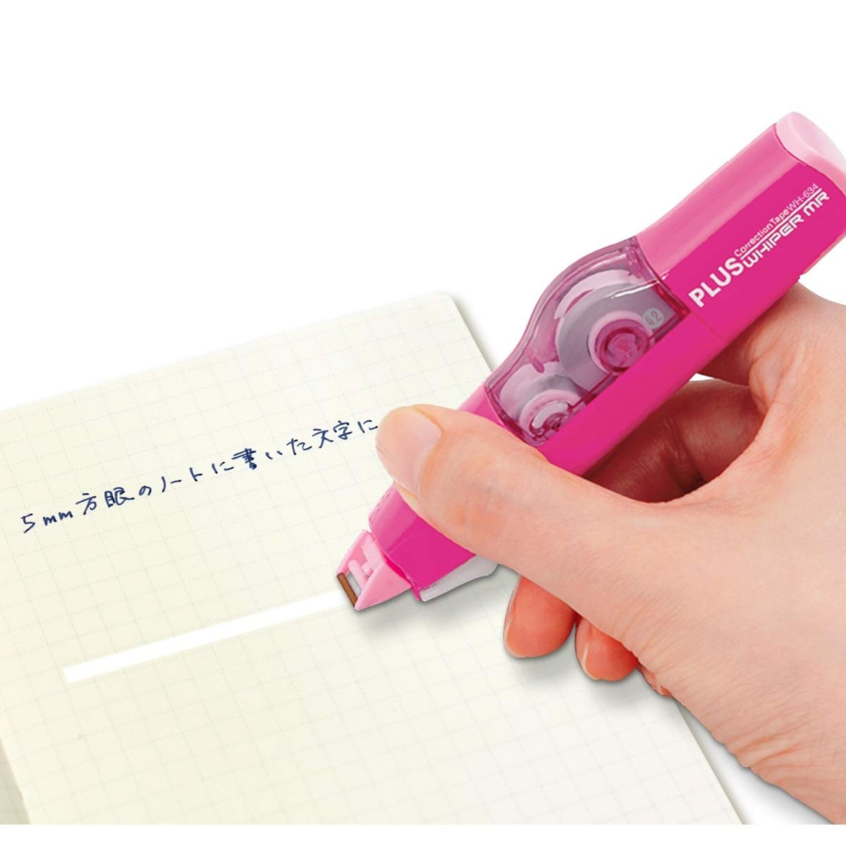 WH-634 PLUS Whiper MR /& refills 5 pcs Whiper Mini Roller Correction Tape 4.2mm x 6m