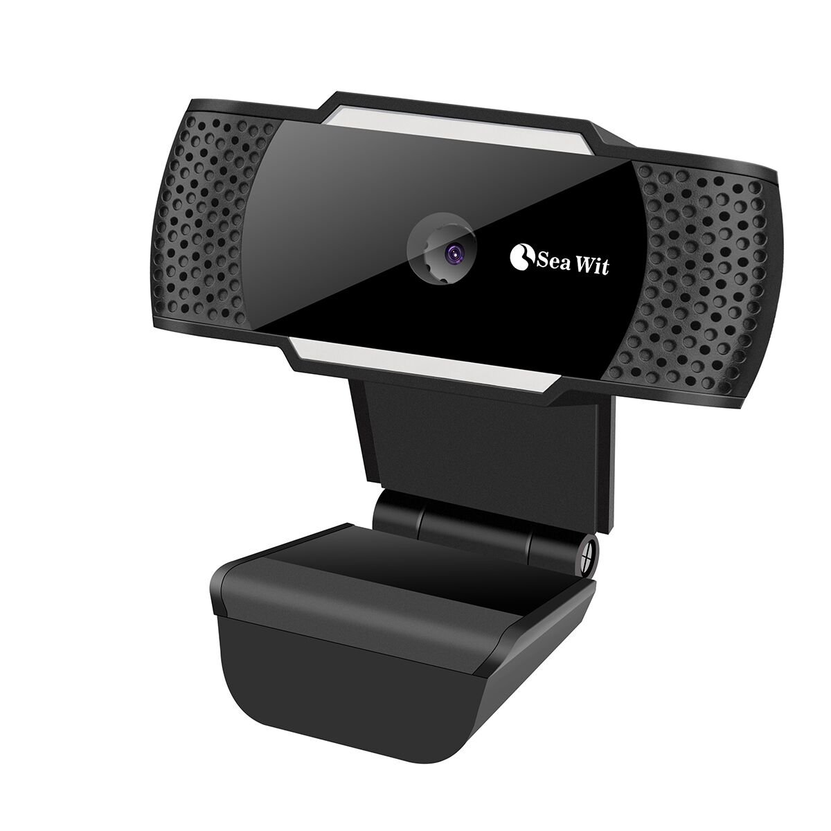Sea Wit Webcam, USB Webcam with Built-in Microphone for Video Calling - Black