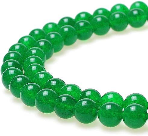 8mm 10 pcs Natural Green Jade Round Beads,