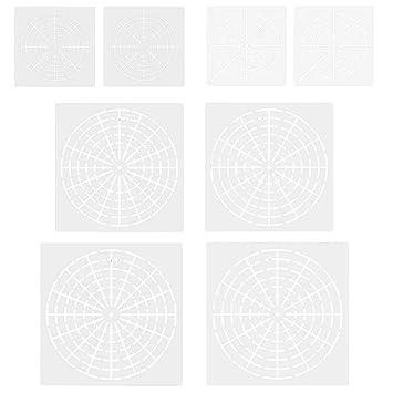 Migavenn 8 Pcs Réutilisable Mylar Mandala Dotting Peinture Pochoirs
