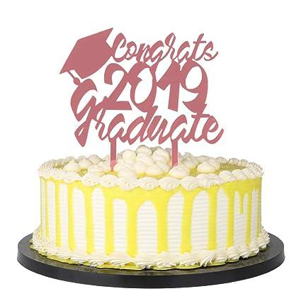 Amazon Com Palasasa Congrats 2019 Graduate Acrylic Cake Topper
