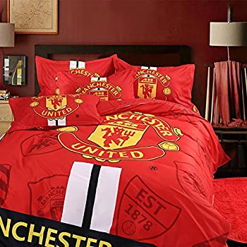 Sport Do Fashion World Cup Designs 3D Version Bedding Sets for Football  Fans Chelsea Juventus Club Manchester United Liverpool Real Madrid Duvet  Cover and. Amazon com   Man Utd Single Duvet Set   Duvet Cover Sets   Sports
