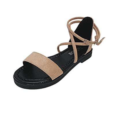 d9f52d6b47 Lolittas Gladiator Sandals for Women Ladies, Summer Yellow Flat Low Heel  Platform Peep Toe Slingback Lace up Strappy Wide Fit Bridal Hiking Shoes  Size 2-7: ...