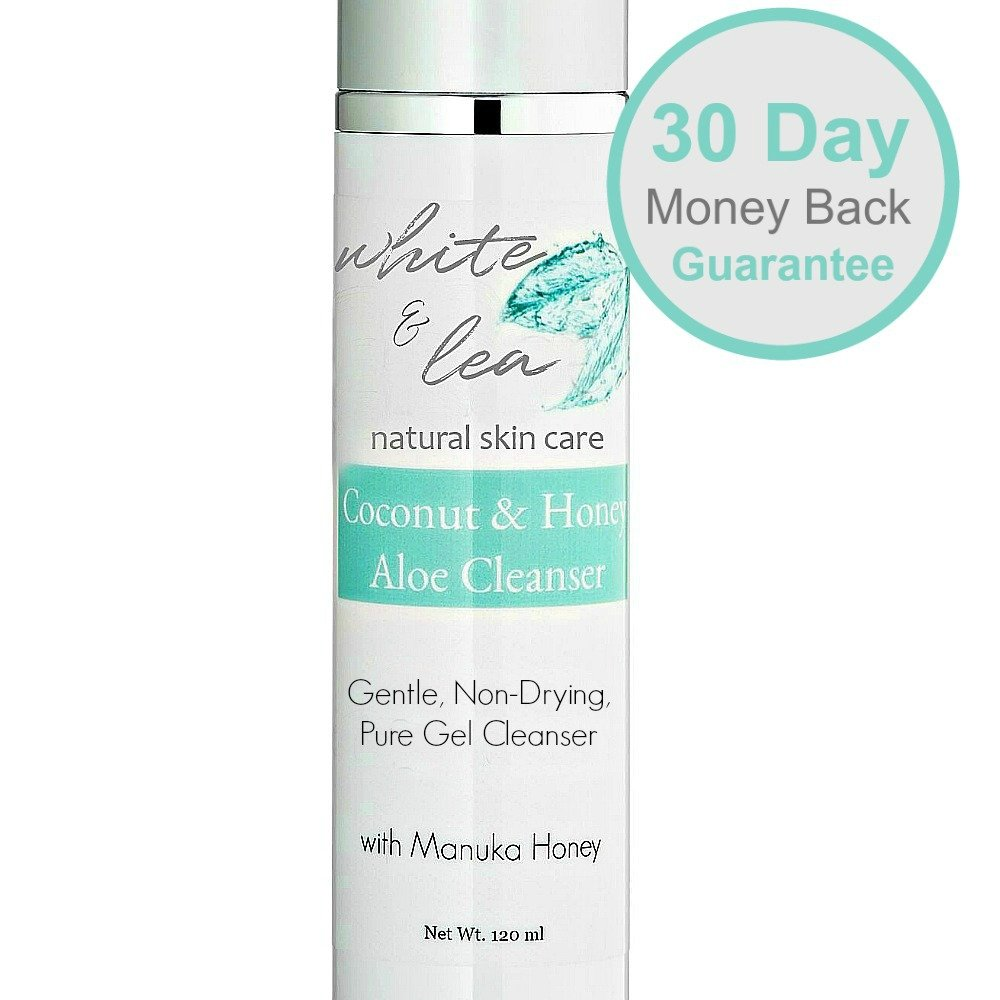 Face Wash for Dry, Sensitive Skin | Natural Skin Care Products | Hydrating Honey, Coconut & Aloe Facial Cleanser by White & Lea |