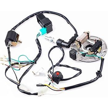 amazon com cisno kick start dirt pit bike wire harness wiring loom rh amazon com