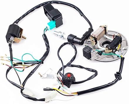 Amazon Com Cisno Kick Start Dirt Pit Bike Wire Harness Wiring Loom Cdi Coil Magneto 50 125cc Automotive
