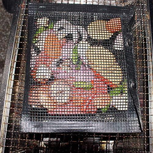 Formulaone Sac de Maille antiadhésif Sac de Barbecue Revêtement en Fibre de Verre Le matériau antiadhésif Permet Un Retrait Facile Sac de Barbecue 1 Pcs Noir 27 * 22Cm